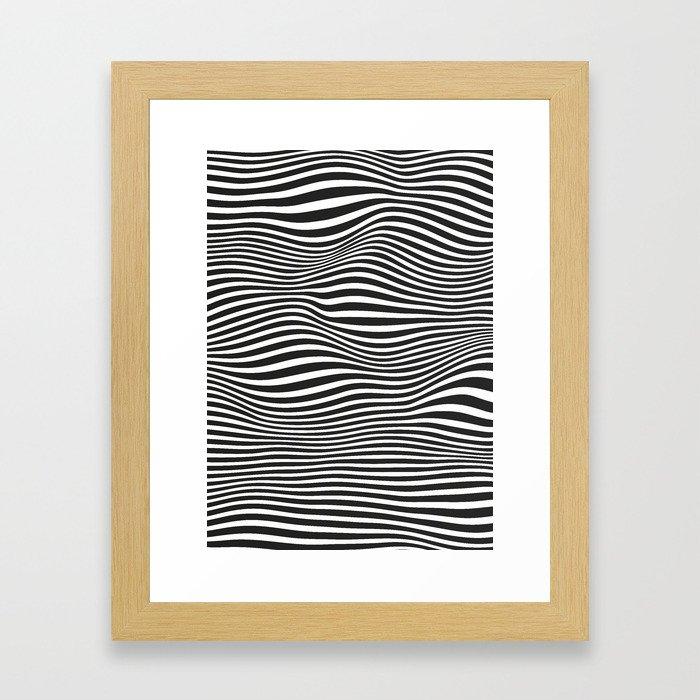 Wavy Framed Art Print