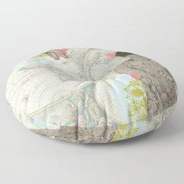 Feminine Collage I Floor Pillow