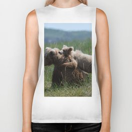 Alaska Grizzly Mother And A Cub In Katmai National Park #Society6 Biker Tank