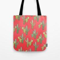 cacti Tote Bags featuring Cacti by Megan Dignan