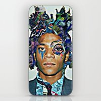 basquiat iPhone & iPod Skins featuring Basquiat by Katy Hirschfeld