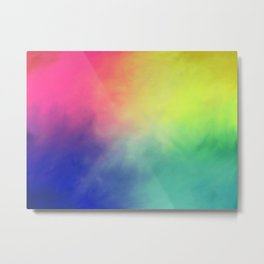 Rainbow aura Metal Print