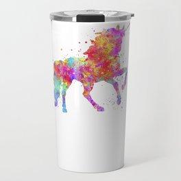 Watercolor Unicorn Travel Mug