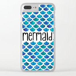 Mermaid Scales in Blue Clear iPhone Case