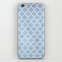 morocco iPhone & iPod Skins featuring MOROCCO - SLATE by pike design
