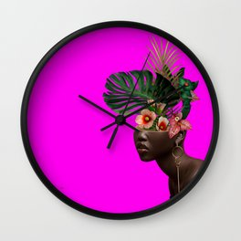 Lady FLOWERS XVII Wall Clock