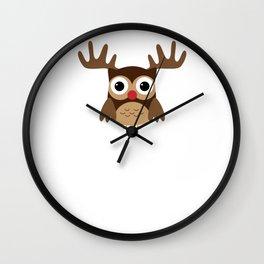 Reindeer Owl Wall Clock