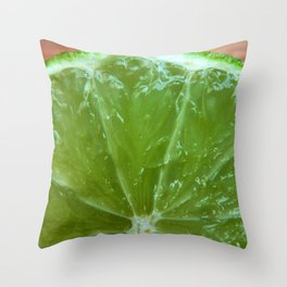 Lime Green and Fresh Throw Pillow