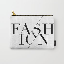 fashion typography Carry-All Pouch