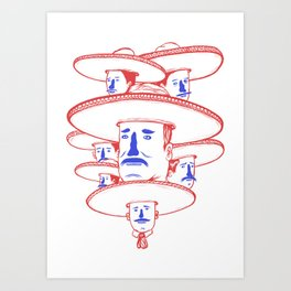 The Mariachi Band Art Print