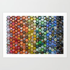 Bottlecap spectrum Art Print