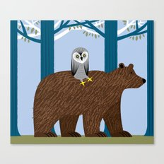 The Owl and The Bear Canvas Print