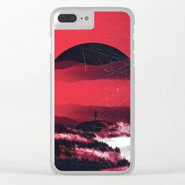 RED MORNING Clear iPhone Case