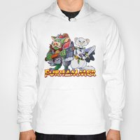 """warhammer Hoodies featuring Furhammer """"P'Orc and Dark Ferret"""" by the Artisan Rogue"""