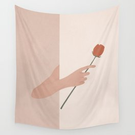 One Rose Flower Wall Tapestry