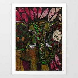 brown ele Art Print