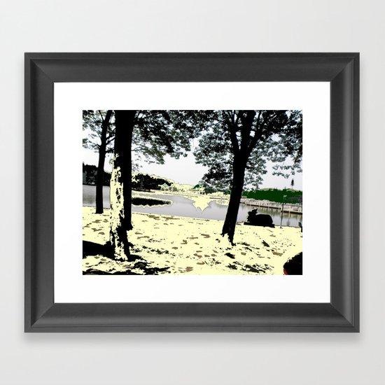 A Pleasant Day Framed Art Print