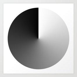 FADE BLACK Art Print