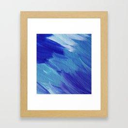 Deepest blues Framed Art Print