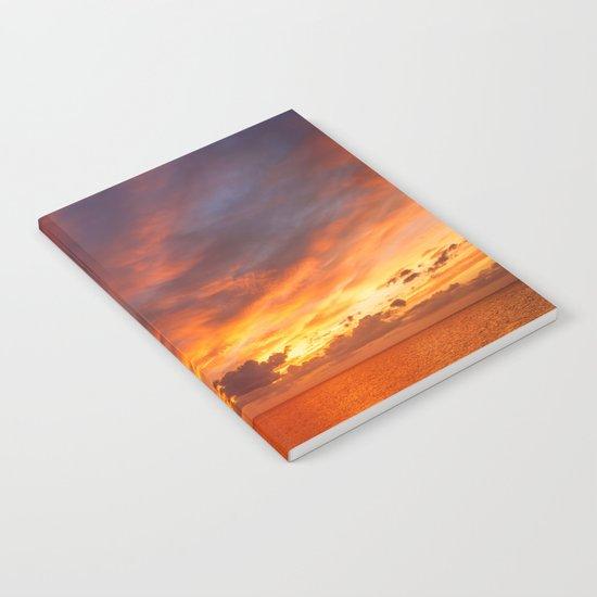 Burning Sunset Notebook