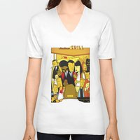 pulp fiction V-neck T-shirts featuring Pulp Fiction by Ale Giorgini