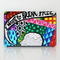 hitchcock iPad Cases featuring Psychedelic  Hitchcock by Sara Catalina