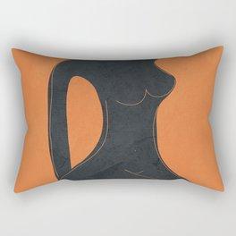 Abstract Nude II Rectangular Pillow