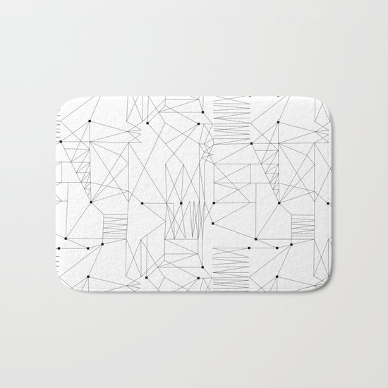 LINES OF CONFUSION Bath Mat
