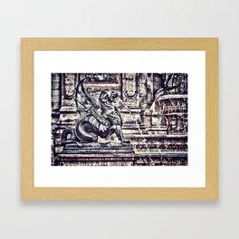 PARIS - Latin Quarter: Place St-Michel - La Fontaine St. Michel Framed Art Print