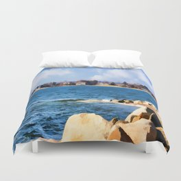 New England Shoreline - Painterly Duvet Cover