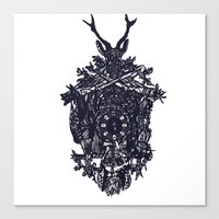 clockwork Canvas Prints featuring Clockwork by Jamie Bryan