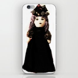 Pretty in Black Doll iPhone Skin
