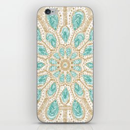 MMMOYSTERS Gold-Rimmed Oyster Mandala iPhone Skin