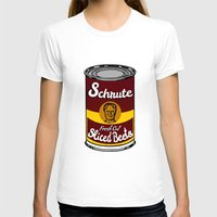 dwight schrute T-shirts featuring Schrute Fresh Cut Sliced Beets  |  Dwight Schrute  |  The Office by Silvio Ledbetter