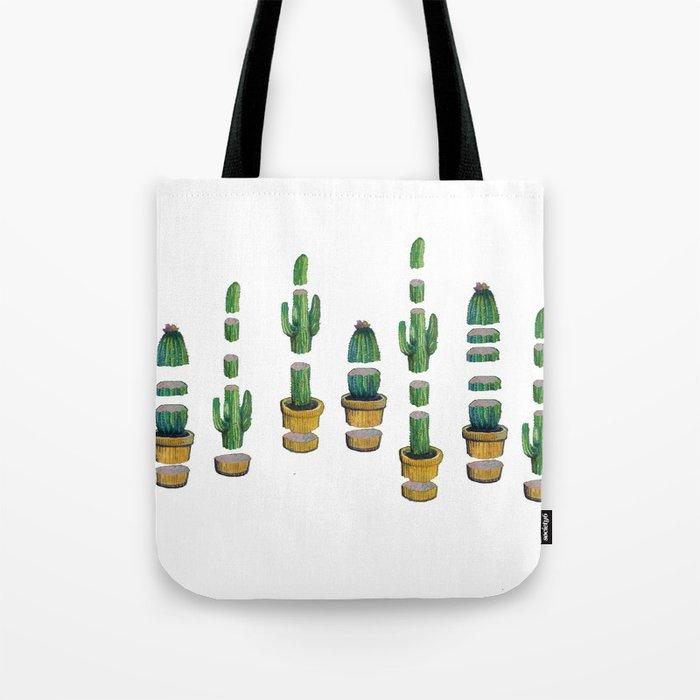 cut cactus Tote Bag
