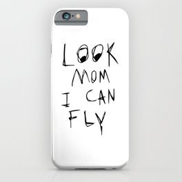Travis Look Mom I Can Fly white Scott iPhone Case