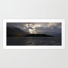 Light through Clouds Art Print