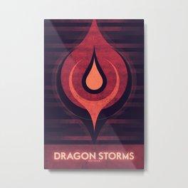 Saturn - Dragon Storm  Metal Print