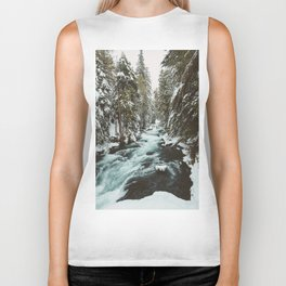 The Wild McKenzie River Portrait - Nature Photography Biker Tank