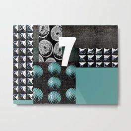 BLUE #THE 7 SERIES Metal Print