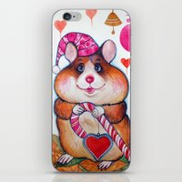 hamster iPhone & iPod Skins featuring HAMSTER by oxana zaika