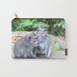 Crab-eating Macaque III (Balinese Monkey) Carry-All Pouch