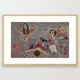 Nirvana - Light My Candles In A Daze Cause My Heart Shaped Box Is Broke Framed Art Print