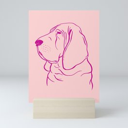 Bloodhound (Pink and Pink Violet) Mini Art Print