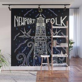 Tribute 1959 Newport Folk Festival - Fort Adams, Newport, Rhode Island portrait painting Wall Mural