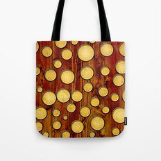 Wood and gold Tote Bag