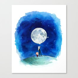 Little astronomer Canvas Print