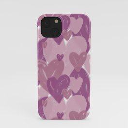 Infinite hearts pink iPhone Case
