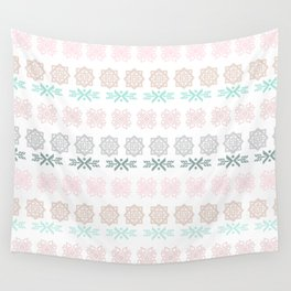 Pastel pink green hand painted scandinavian geometrical Wall Tapestry