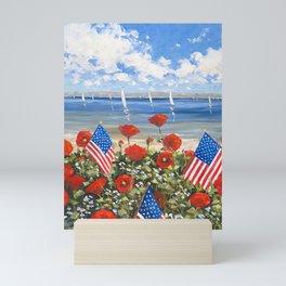 July 4th Poppies Mini Art Print